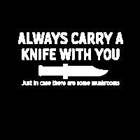 Messer Pilz t-shirt Geschenk Schwert Schwammerl