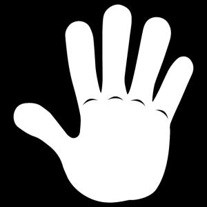 Hand Gimme 5 | Black/White