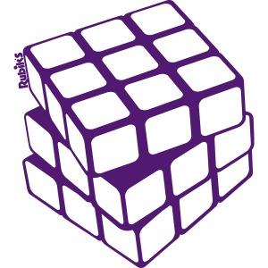 Rubik's Cube Golden Outline