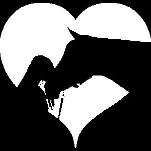 Herz Mädchen mit Pferd