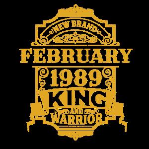 Februar Geburtstag 1989 Party Geschenk feiern