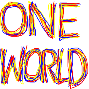 One World bunt
