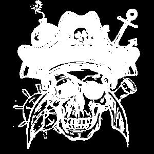 Segel Capitän Totenkopf Schwerter, Bombe, Anker