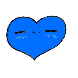 Herzerl blau
