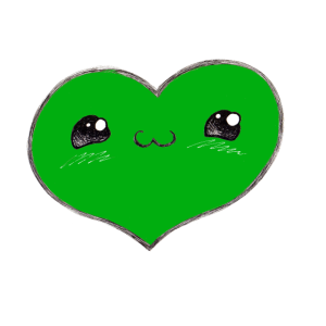 Herzerl 2 grün