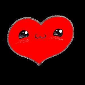 Herzerl 3 rot