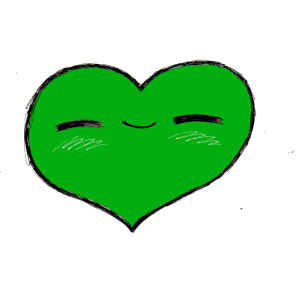 Herzerl grün