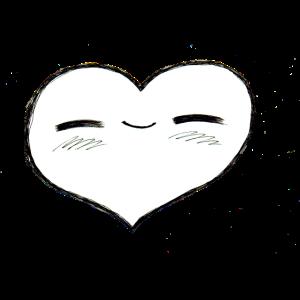 Herzerl schwarzweiss