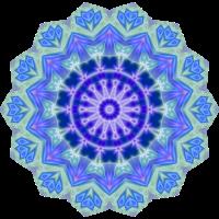 Blau grünes Mandala