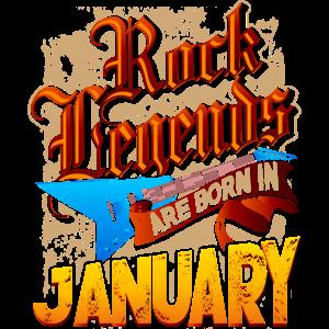 Rock Legenden sind im Januar geboren