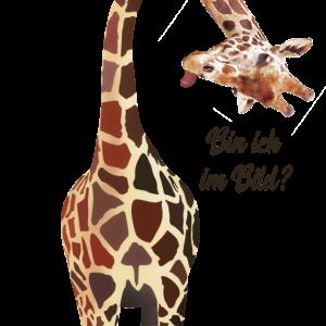 Giraffe, bin ich im Bild?
