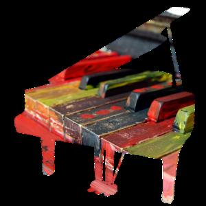 Buntes Klavier, Klaviertasten