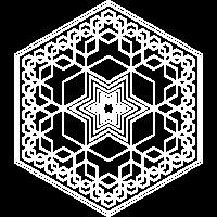 Sechsecke - Fraktale, weiß