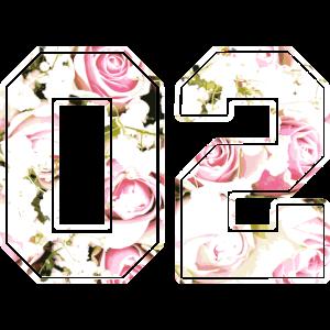 Rosenmuster Nummer Zahl 02