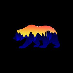 Landschaft Bär Wild Grizzly Landschaftlich