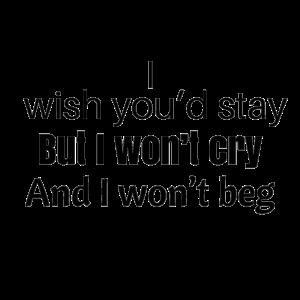 Ich wünschte, du würdest bleiben Von ClareMarie