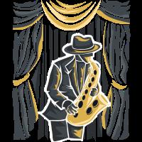 Saxophon - Saxophonist auf einer Bühne