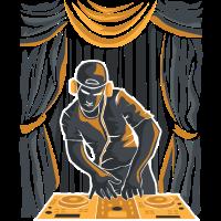 DJ auf einer Bühne