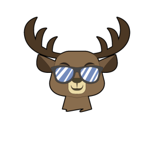 reindeer with shades