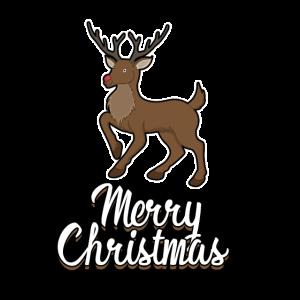 Rentier Frohe Weihnachten