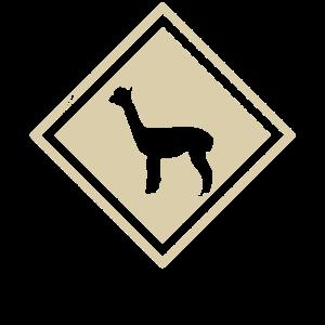 Alpaka Warnschild Symbol