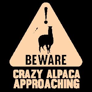 Alpaka Warnschild Achtung Zeichen