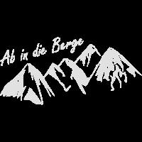 Ab in die Berge Wandern Geschenk Idee