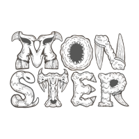 Monster Type two lines