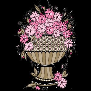 rosarotes Blumen Bouquet