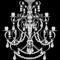 Kronleuchter - schwarz und weiß