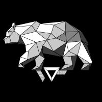 Schattierter Bär