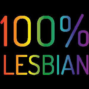 100% Lesben in Regenbogenfarben