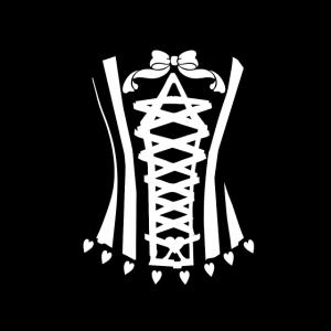 Korsett weiss Frauen schick T-shirt