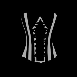 Korsett schwarz schick Frauen T-shirt