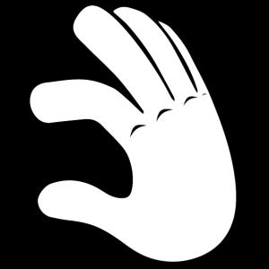 Hand Low   Black/White