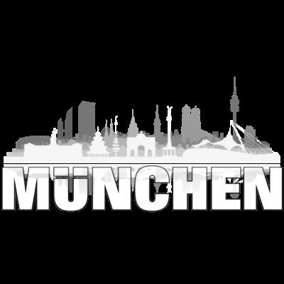 muenchen01hell - München Skyline Shirt mit Münchener Architektur und München-Schriftzug für München-Fans. - urban,stadtbild,stadt,skyline,silhuette,münchener,munich,gebäude,design,city,Silhouette,Sendling,Ramersdorf,Oktoberfest,Neuhausen,Münchner,München,Moosach,Maxvorstadt,Laim,Illustration,Geschenk,Freising,Bogenhausen,Bayern