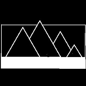 geometric hills frame white