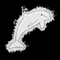 Delphin Meeresleben hell glühend