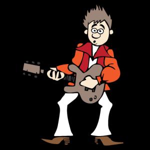 Musiker Countrysänger am Gitarre spielen