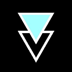 Dreiecke blau weiss Skandi