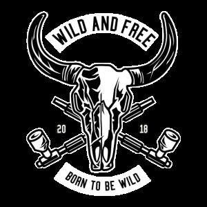 Büffel Schädel Wild & Free