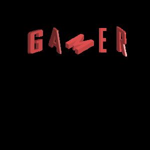Gamer Buchstaben Spruch Games Geschenkidee Nerd