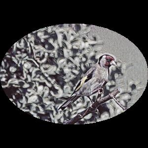 künstlerischer Vogel