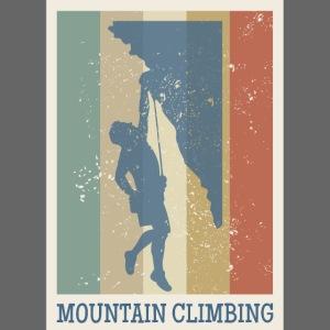 Klettern retro vintage Berg Geschenk Bergsteigen
