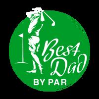 Lustiges Vater und Golfspieler: Best Dad by Par
