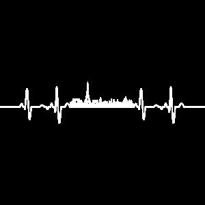 Herzschlag EKG Linie Paris
