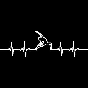 Yoga Herzschlag EKG Linie Puls Frequenz