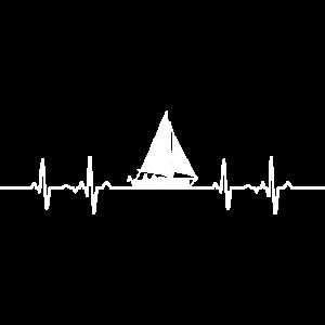 Herzschlag EKG Segelboot