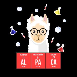 Alpaca Chemie T-Shirt-Funny Alpaca Shirt Chemiker