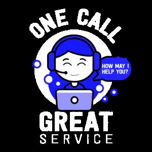 Call Center Service Hotline Kunden Mann Männer